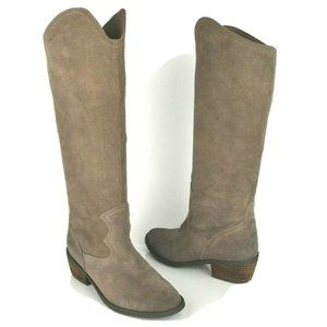 Naughty Monkey Womens 6 Taupe Suede Leather Tall K